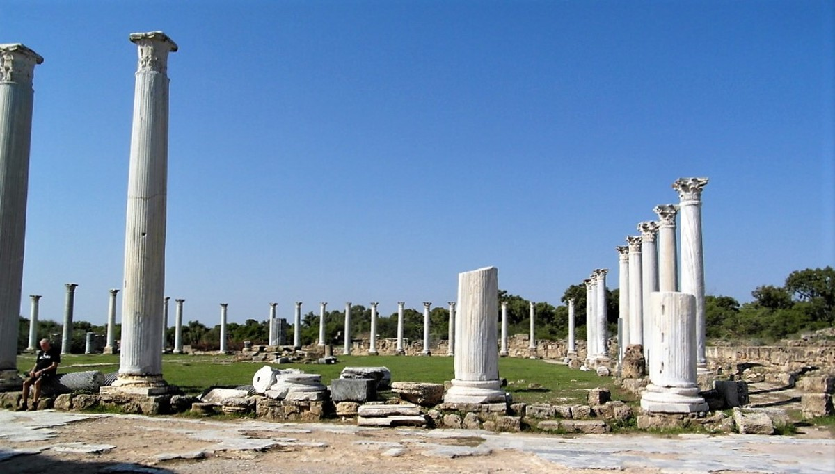 Columned courtyard, Salamis.