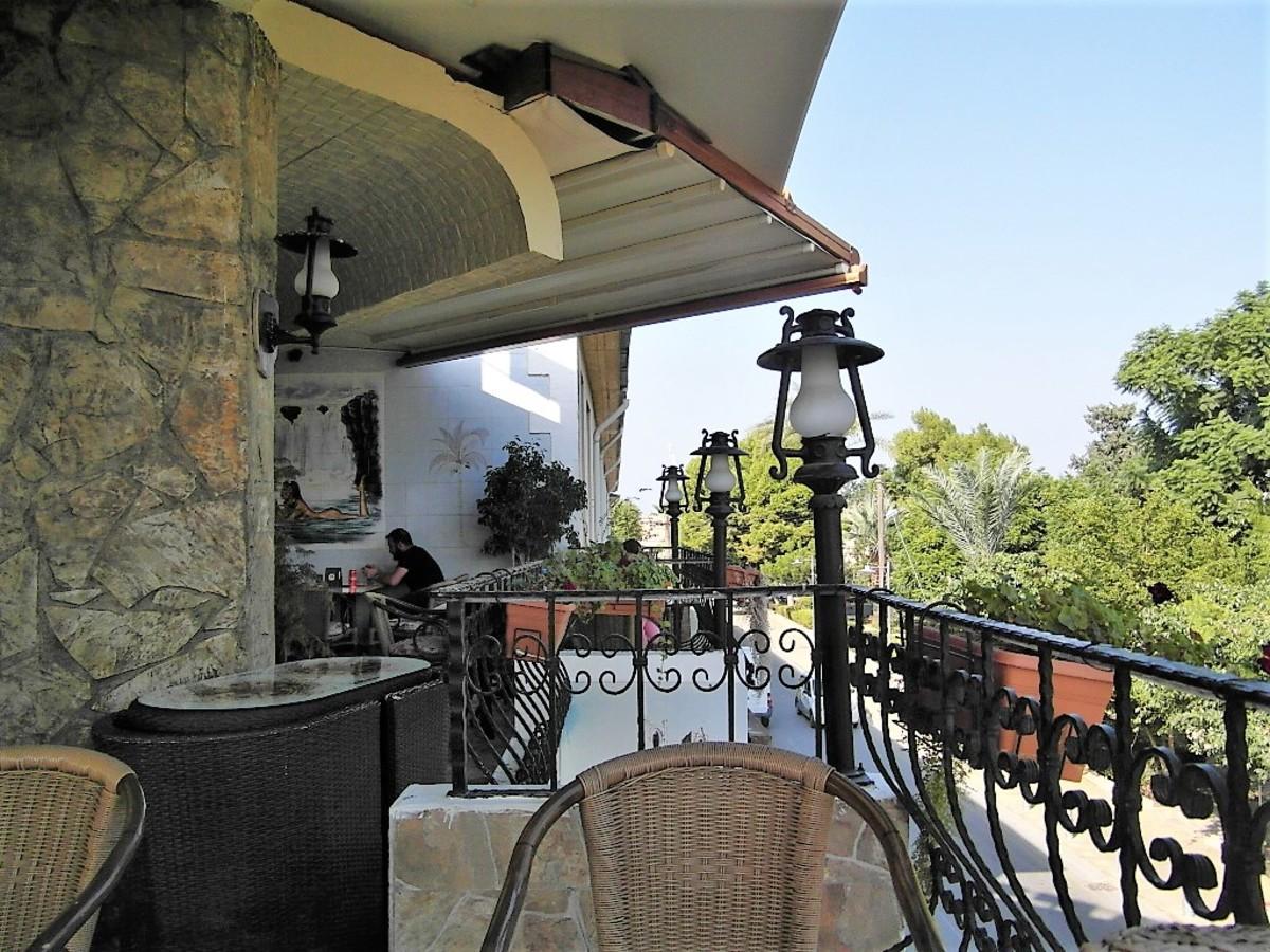 Balcony seating.