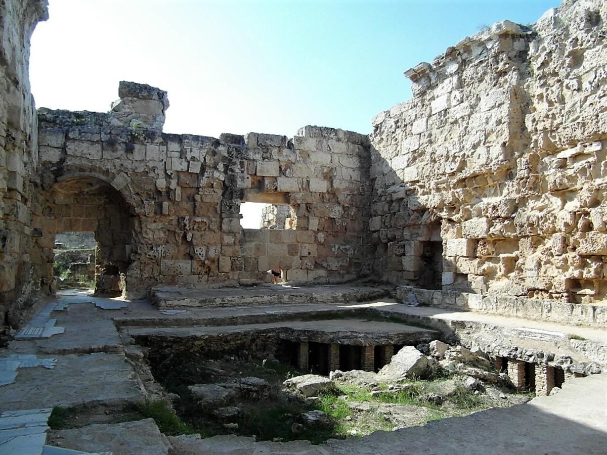 The baths at Salamis.