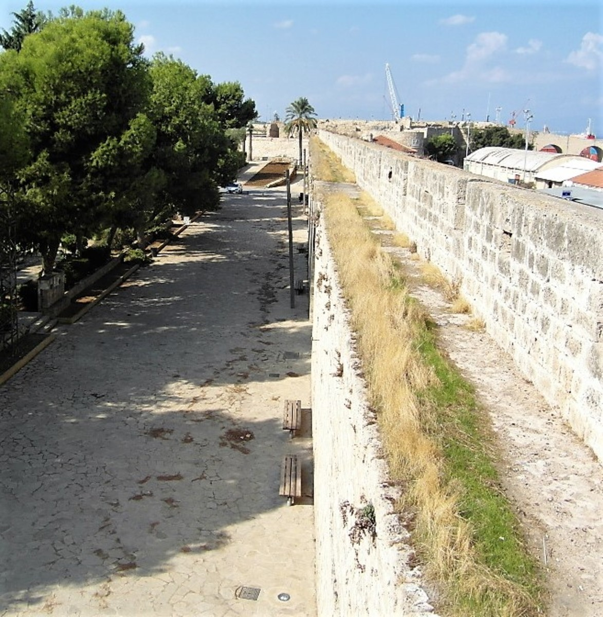View from the Sea Gate along the City Wall.