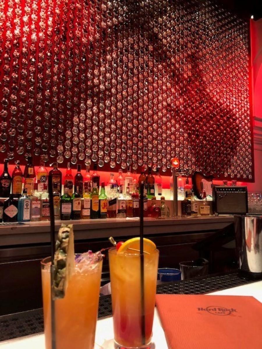 Cocktails at the Hard Rock Cafe in Seville