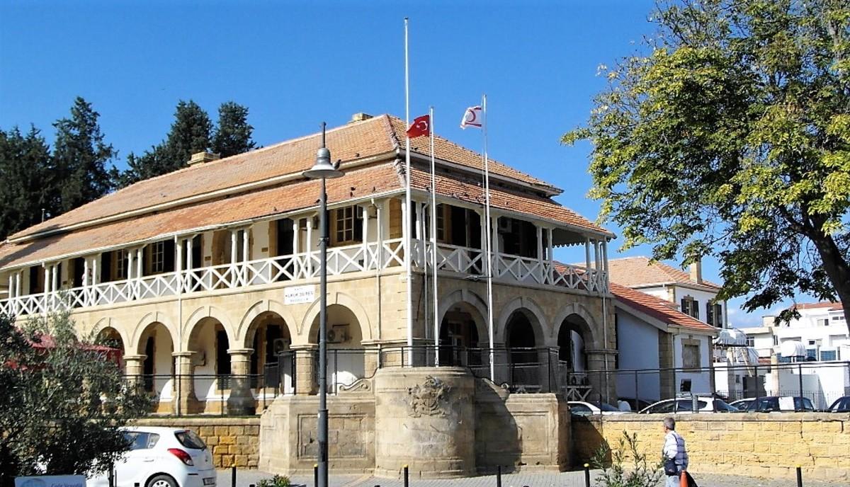 Old British buildings in Ataturk Square.