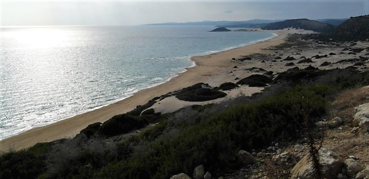 Golden Sands Beach, Karpaz Peninsula, Cyprus.