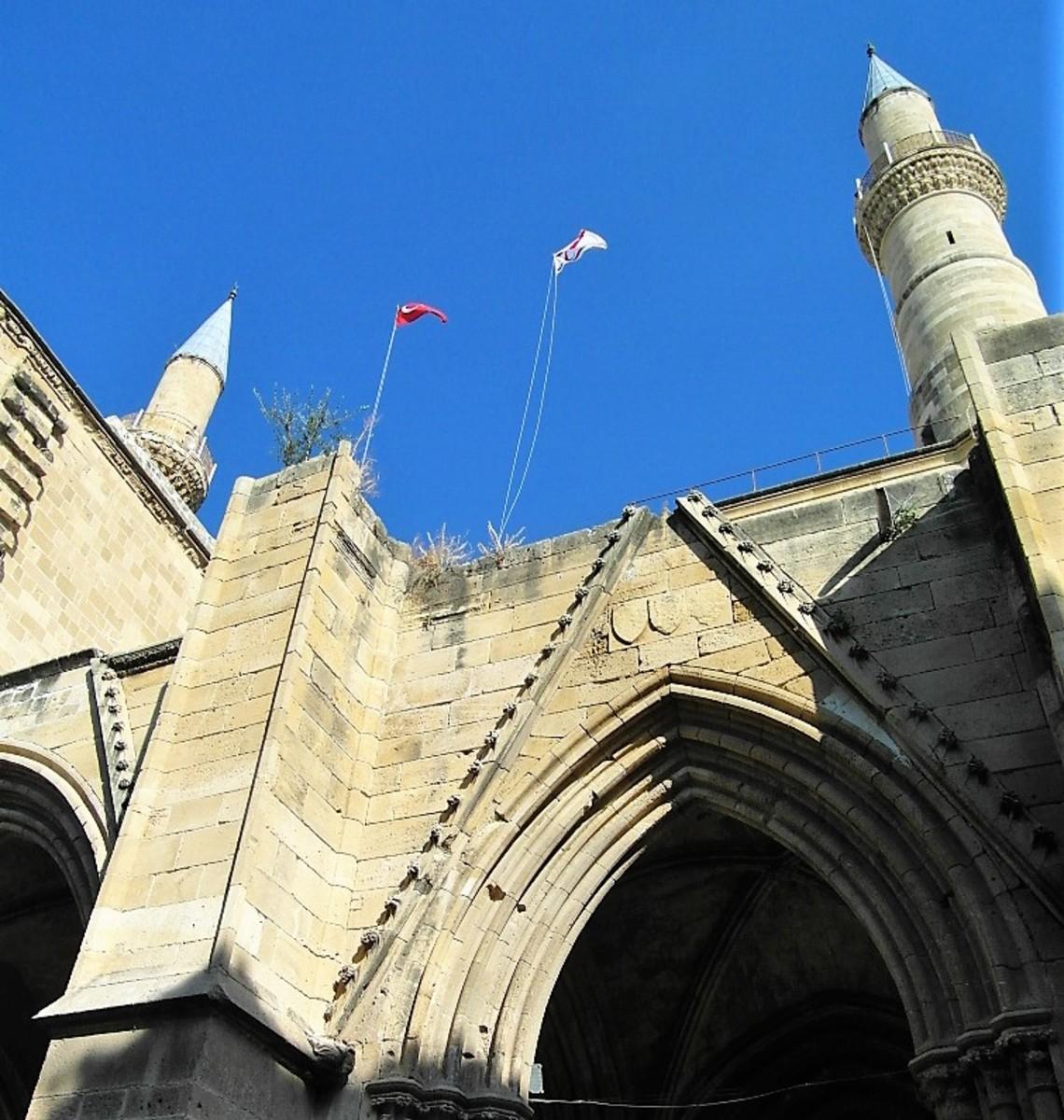 Minarets on Selimiye Mosque, Nicosia.