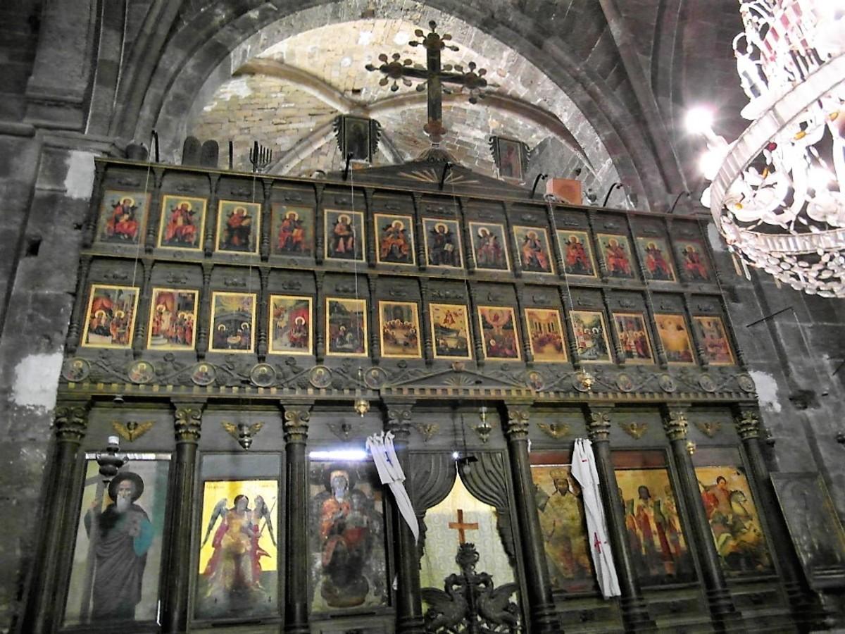 The iconostasis.