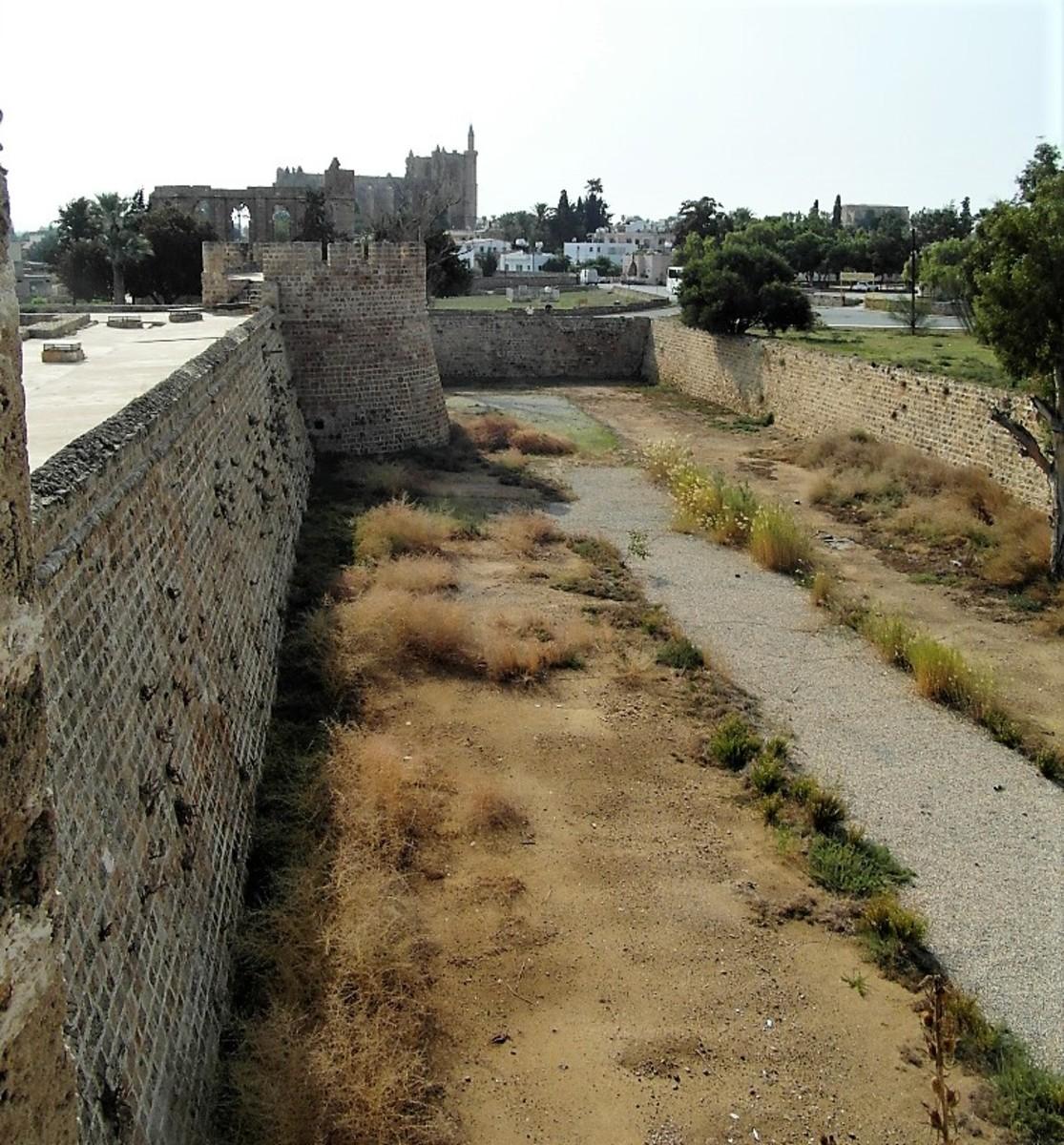 The castle walls.