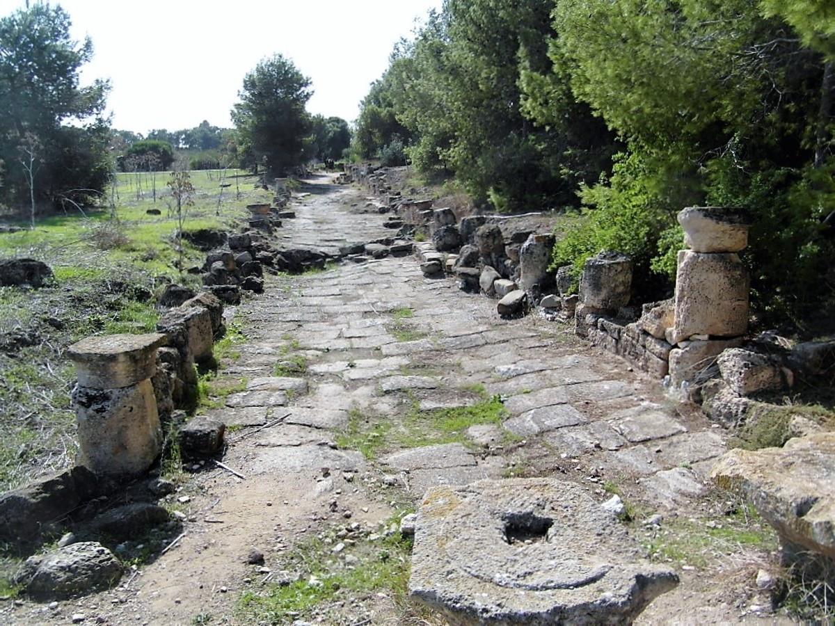 A street in Salamis.