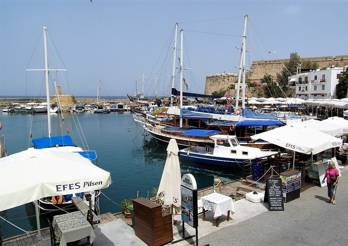 The harbour and castle, Kyrenia.