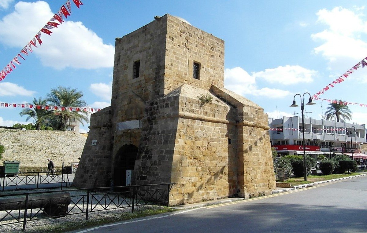 Kyrenia Gate, Nicosia, from the outside.