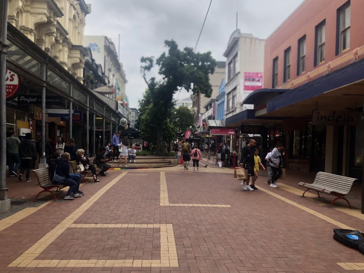 Looking Back Down Cuba Street
