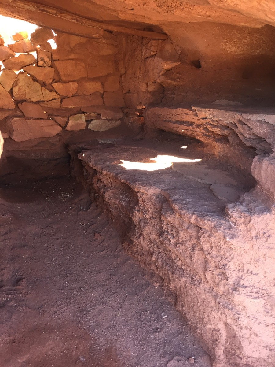 One of two rooms in the rock dwelling above.  While not spacious it did provide shelter when it was newly built a century ago.