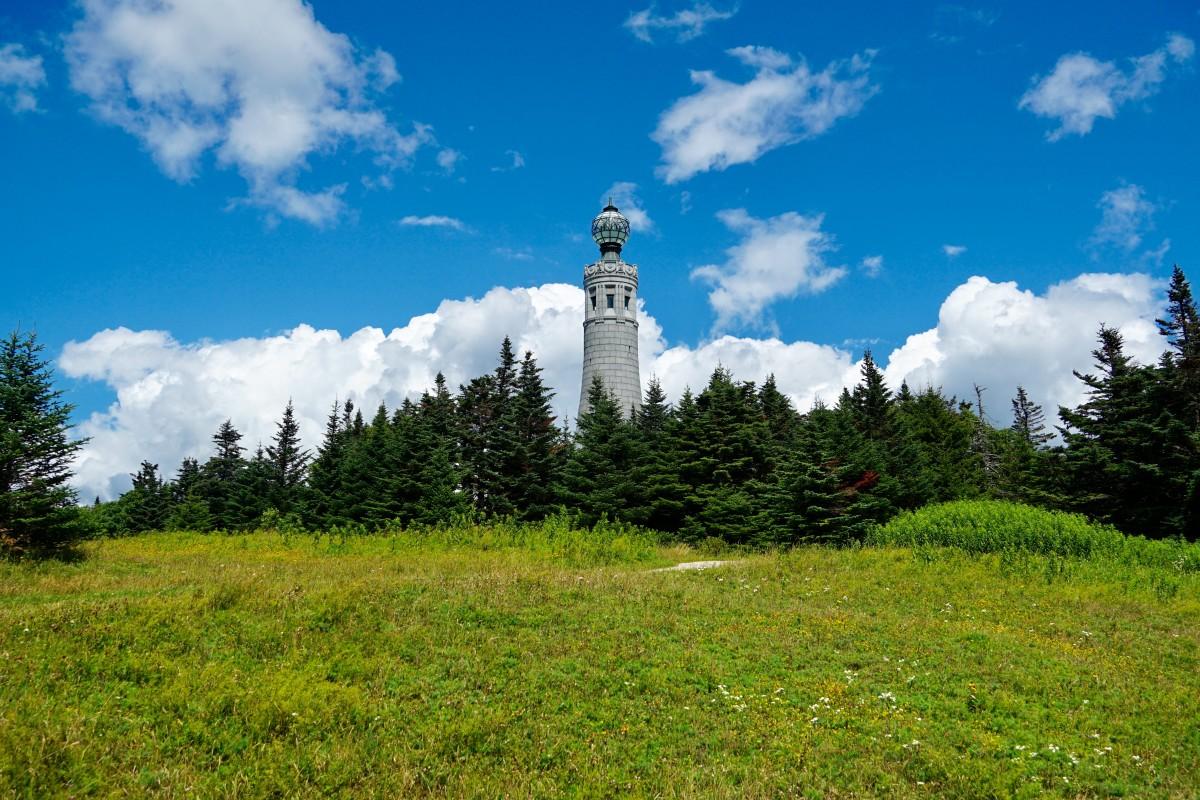The Veterans War Memorial atop Mount Greylock