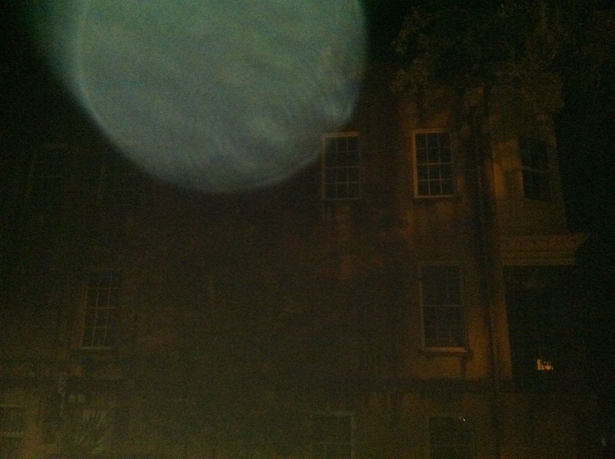 This picture of 432 Abercorn Street is one in a series taken by reader Mark Meyer. All of the photos that Mark took of the house show the same mysterious orb.