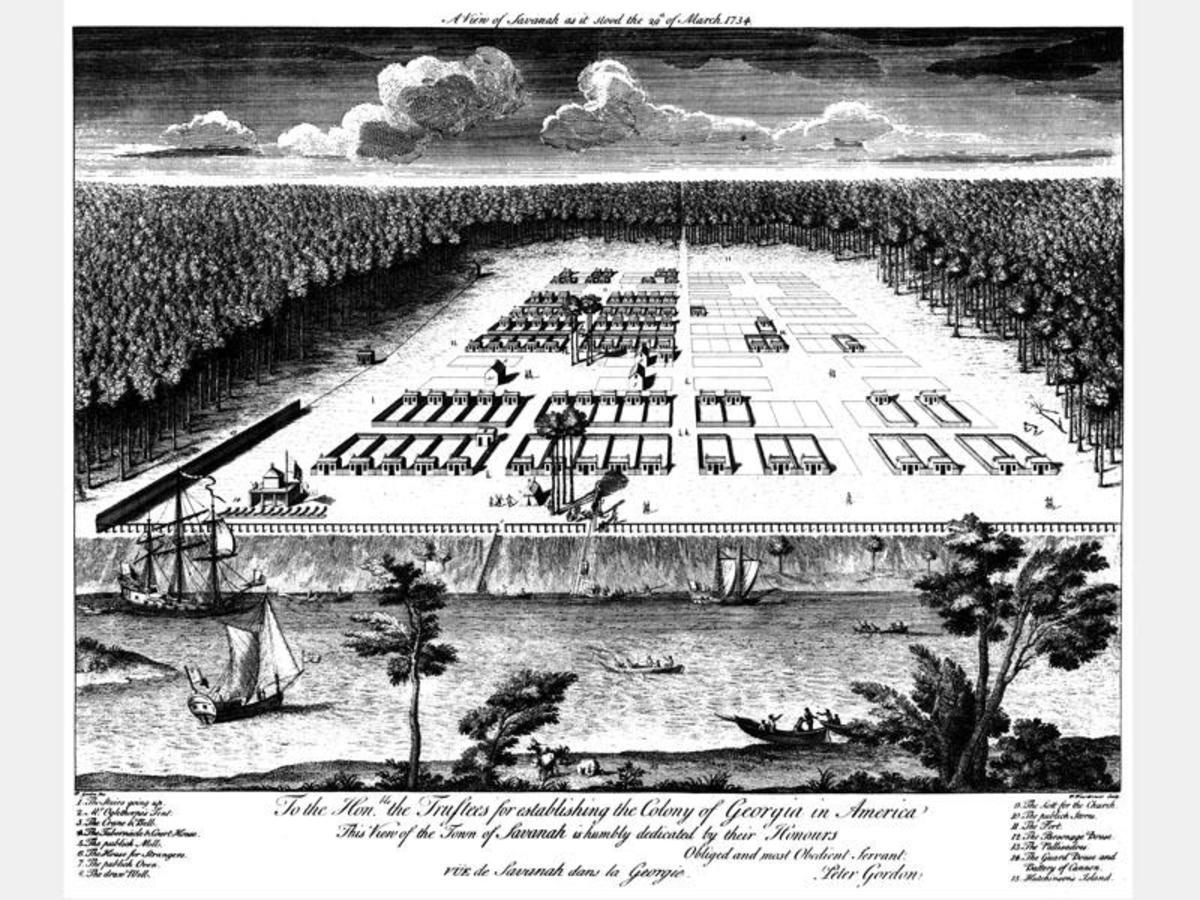 Savannah City Plan, 1734