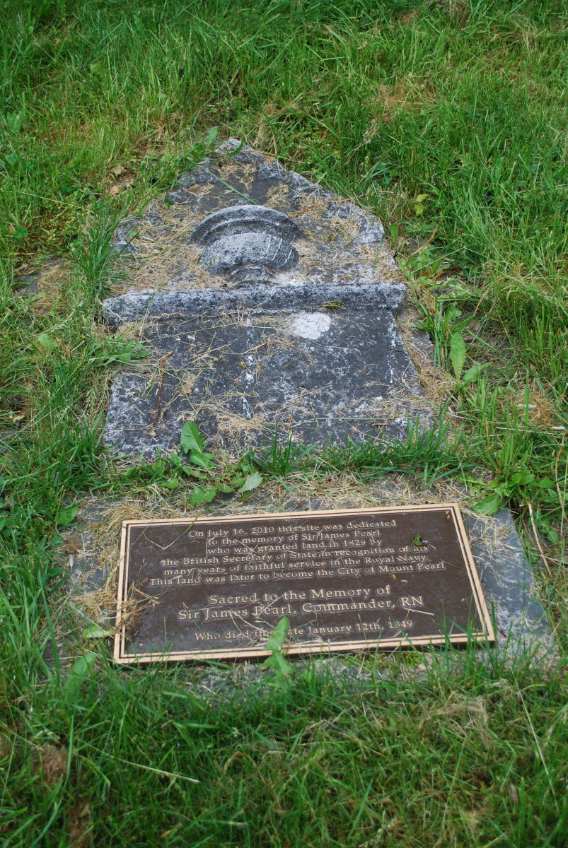 The Grave of Sir James Pearl, the Founder of the City of Mount Pearl. One of the Few Headstones That Still Remain in the Anglican Cathedral Cemetery.