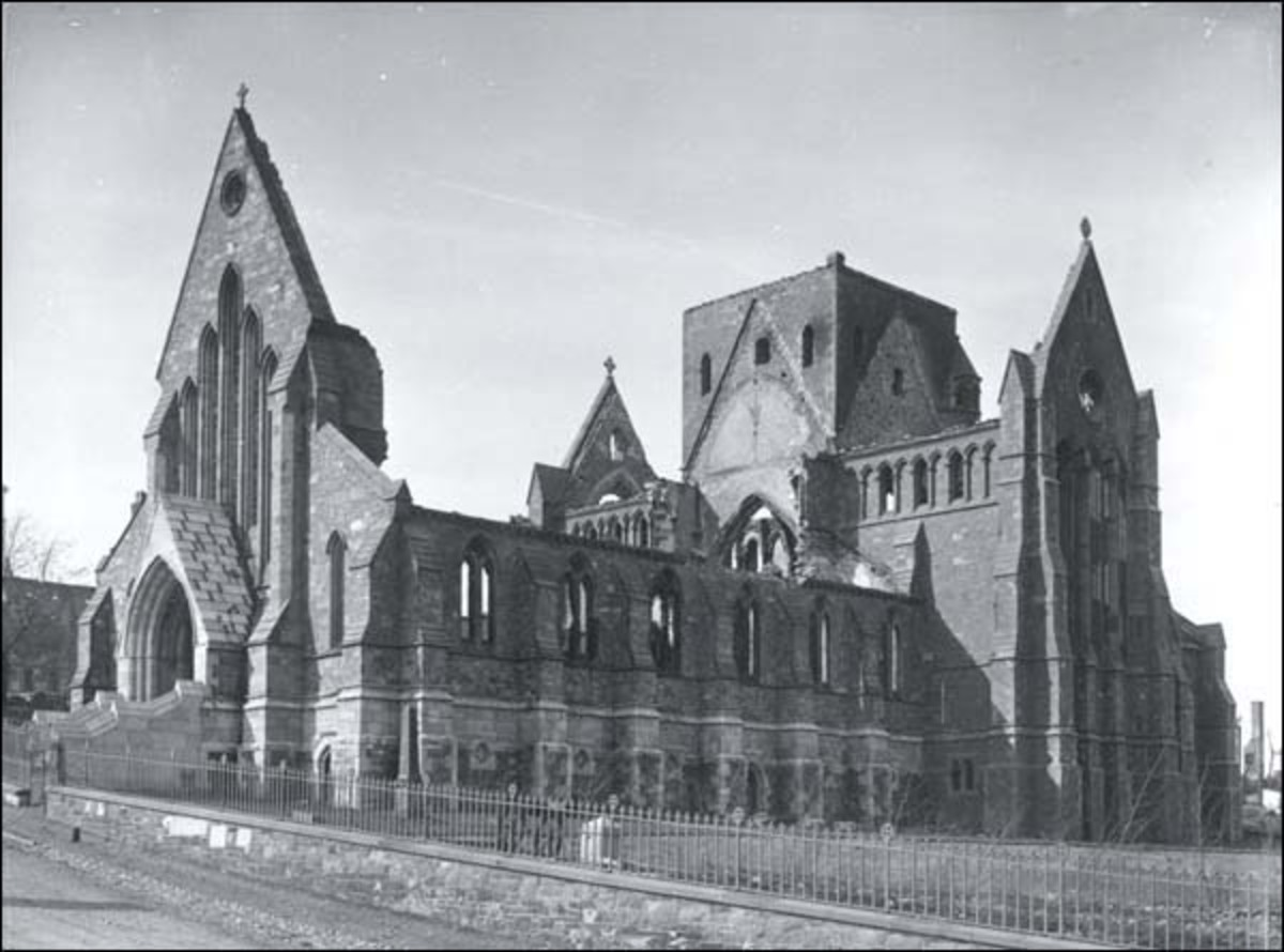 The Ruins of the Anglican Cathedral Following the Great Fire of 1892