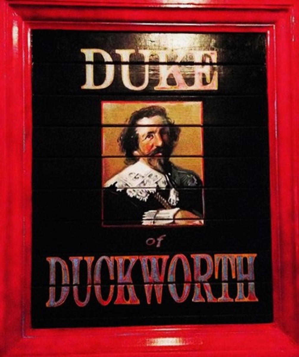 Painting of the Duke as He Looks When He Materializes in the Window Next to the Entrance to the Duke Of Duckworth.