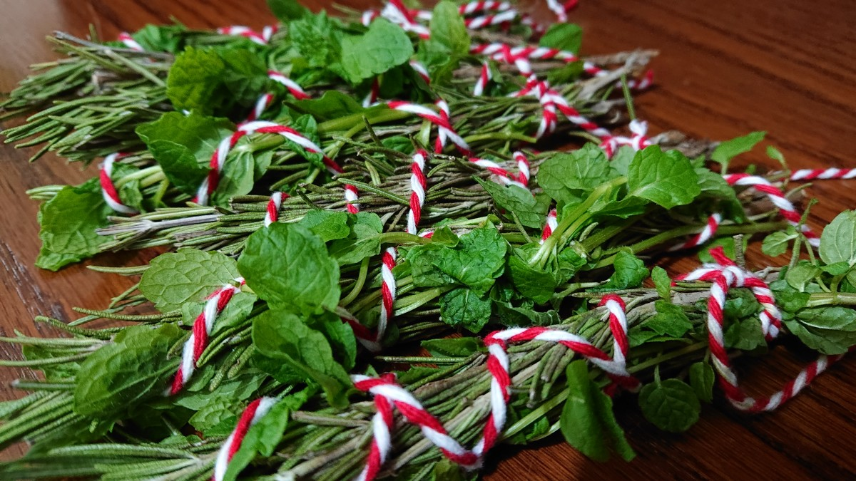Herbs can be used to create your own cleansing sticks and incense.