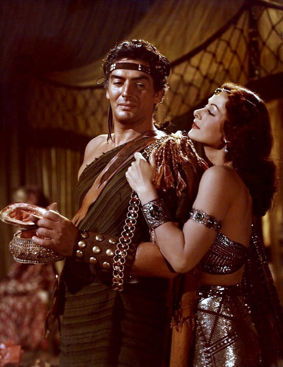 Hedy plays Delilah, while Victor Mature plays Samson