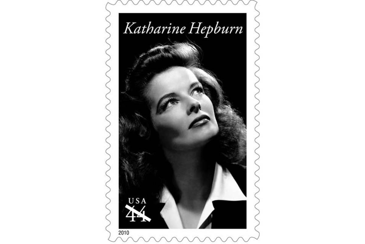 The postage stamp in Katharine Hepburn's honor.