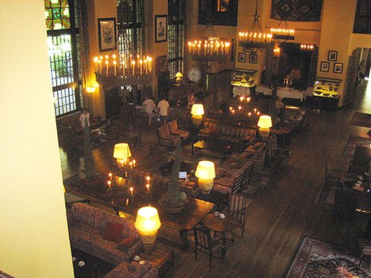 """The Great Lounge at the Ahwahnee Hotel was featured in """"The Shining"""" - with a few modifications."""