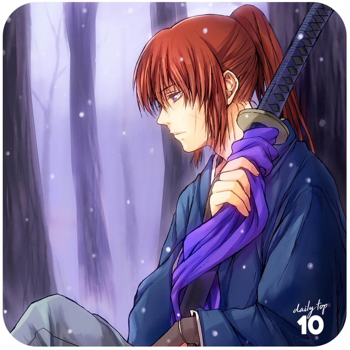 Kenshin resting under a tree