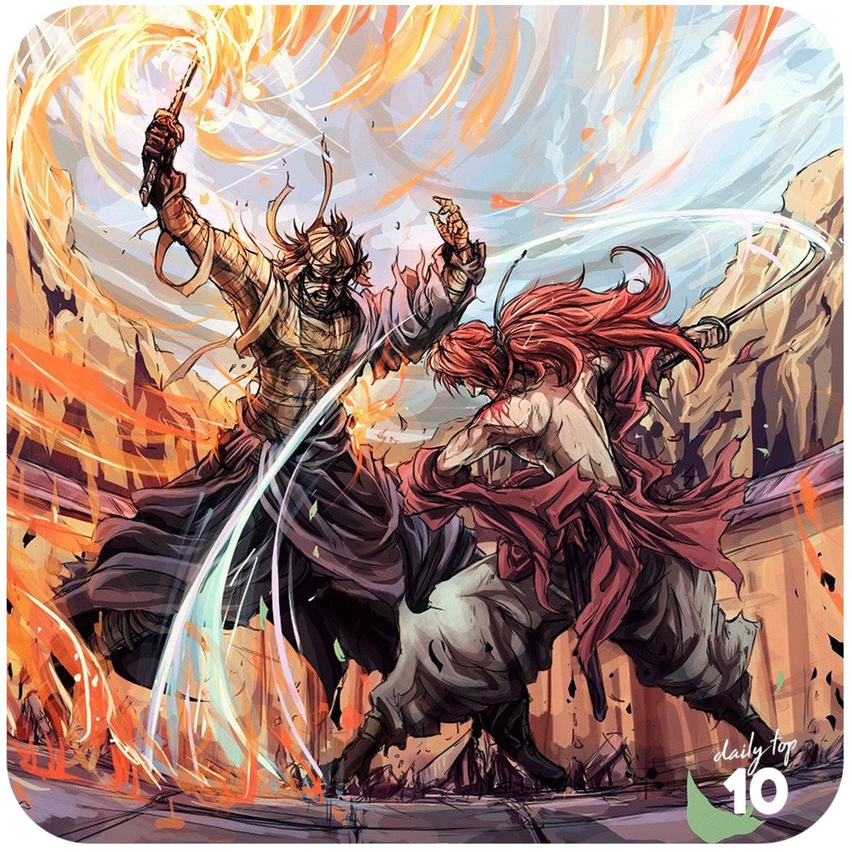 Kenshin Himura vs Shishio Makoto