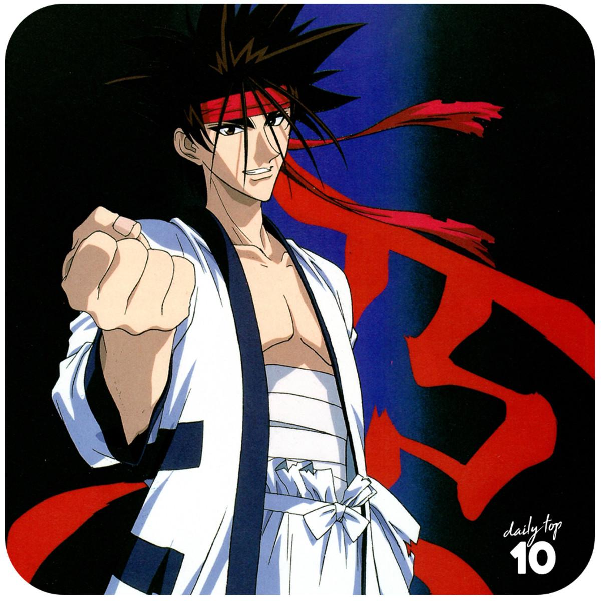 Sanosuke Sagara making a fist