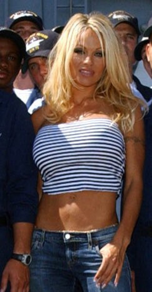 Here's a hottie for all of you, Pam Anderson!  [[Cough, Cough, ew]]