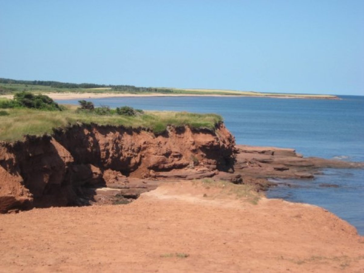 Red cliffs at East Point, PEI