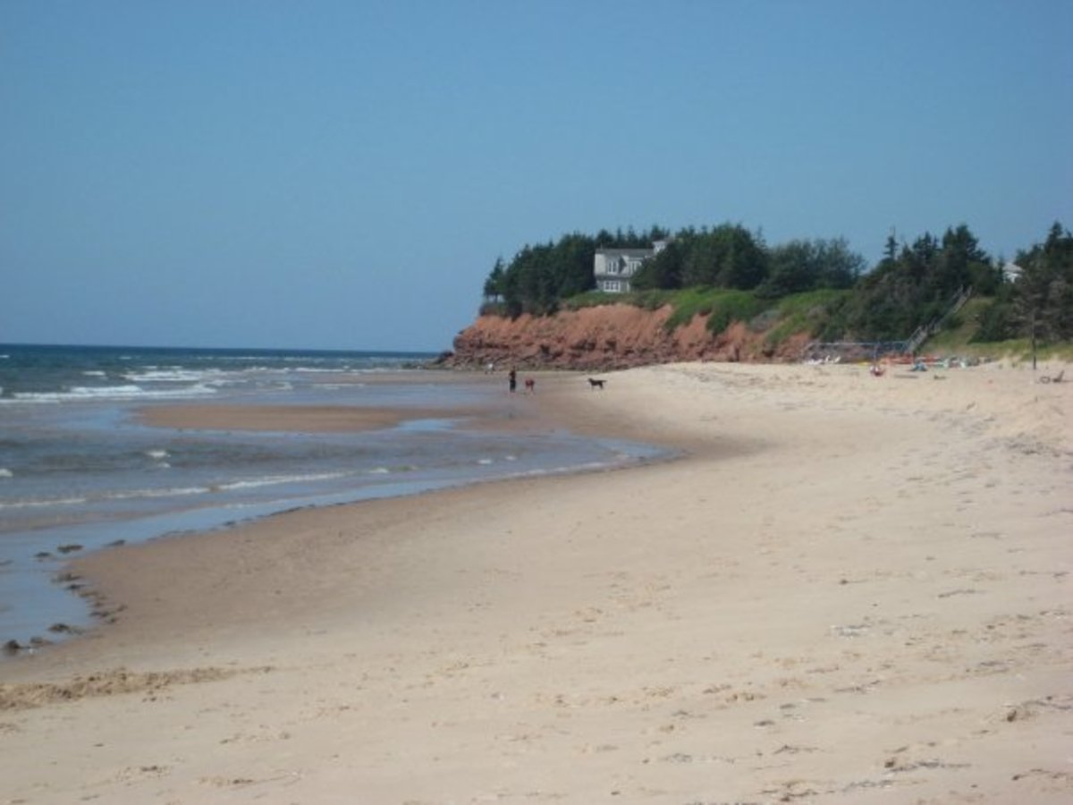Quiet beach on PEI