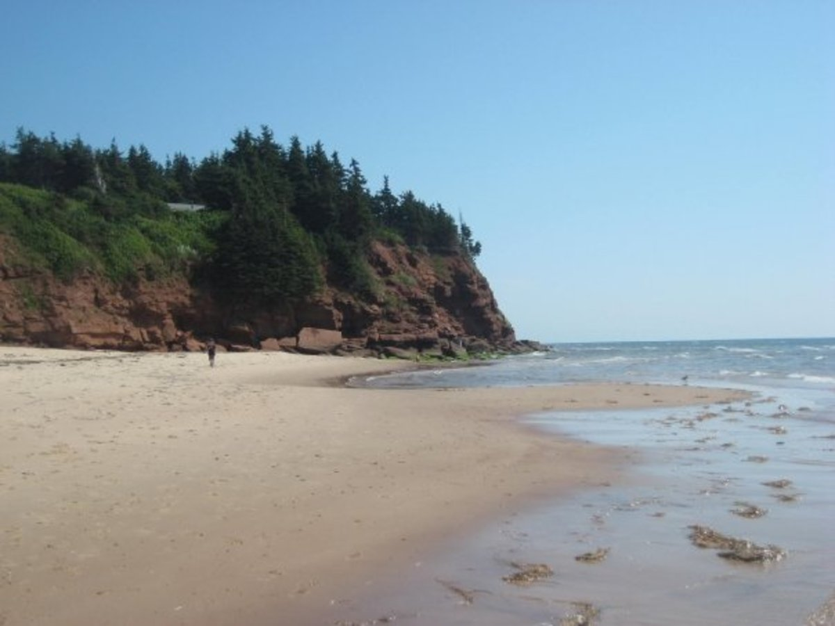 Beach on the east coast of PEI