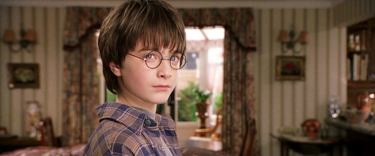 Daniel Radcliffe in the first film.