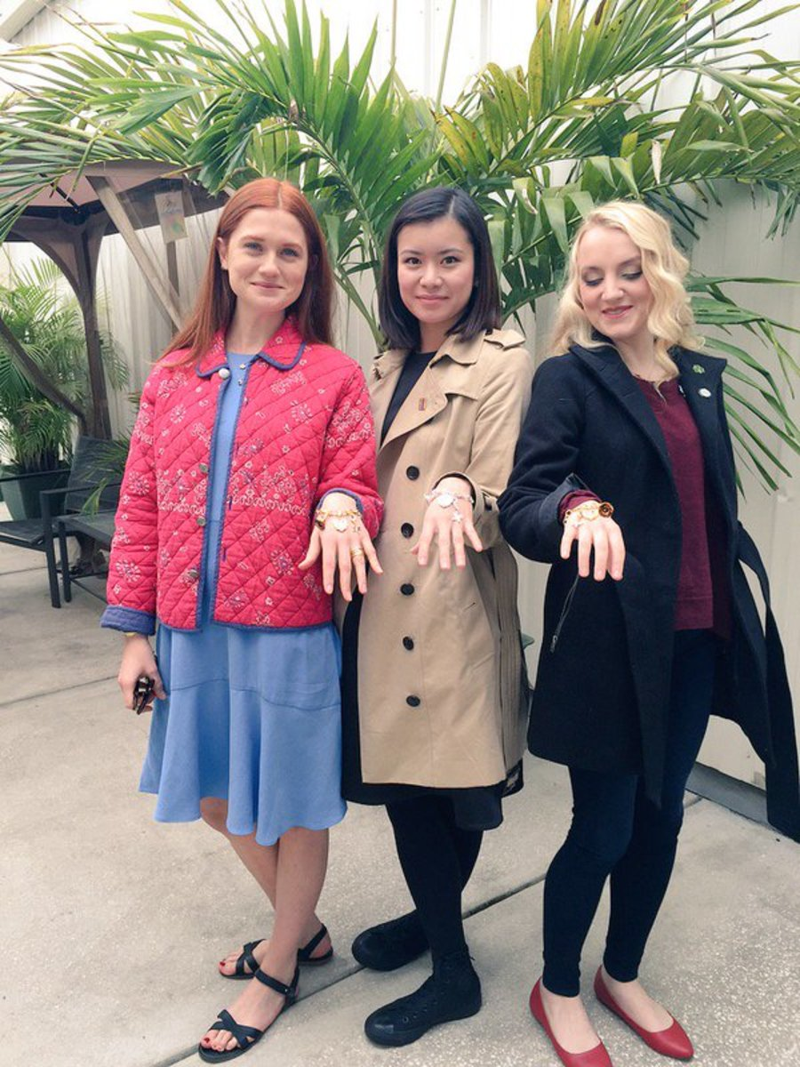 "Bonnie, Katie, and Evanna at the ""A Celebration of Harry Potter"" event in Orlando, 2016."