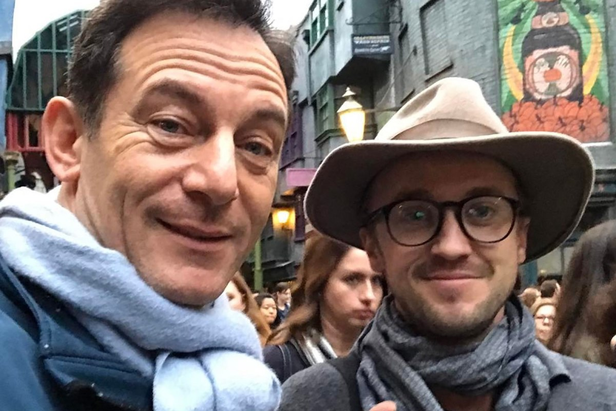 Jason Issacs and Tom Felton teamed up at the WWoHP in 2017 for a mini-reunion.  They also met up with Matthew Lewis (not pictured)!