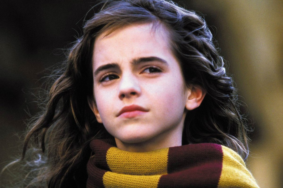 Emma Watson at the start of the Potter films.