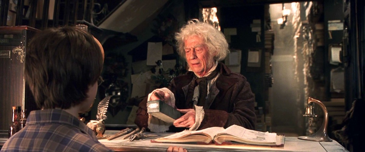 John Hurt brought a lot of magic to his role as the wand maker, Ollivander.