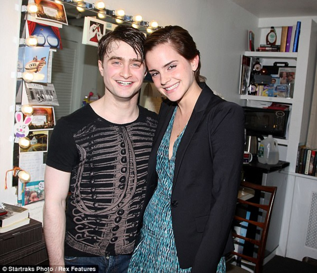 "Daniel and Emma met up backstage at "" How To Succeed in Business Without Really Trying"" in 2012."