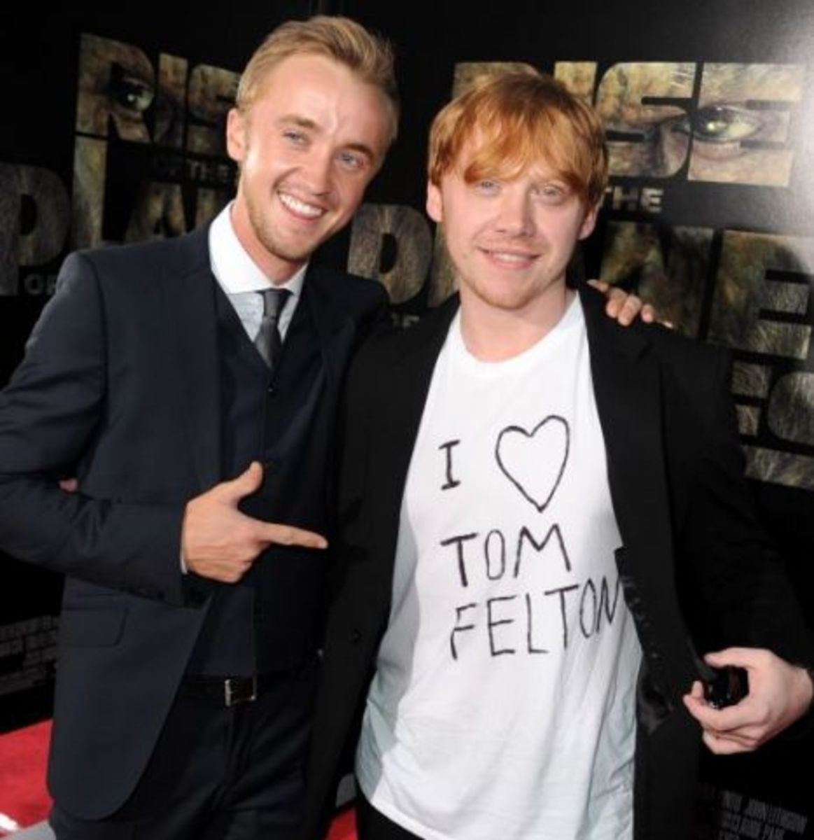 Rupert and Tom have stayed friends throughout the years.