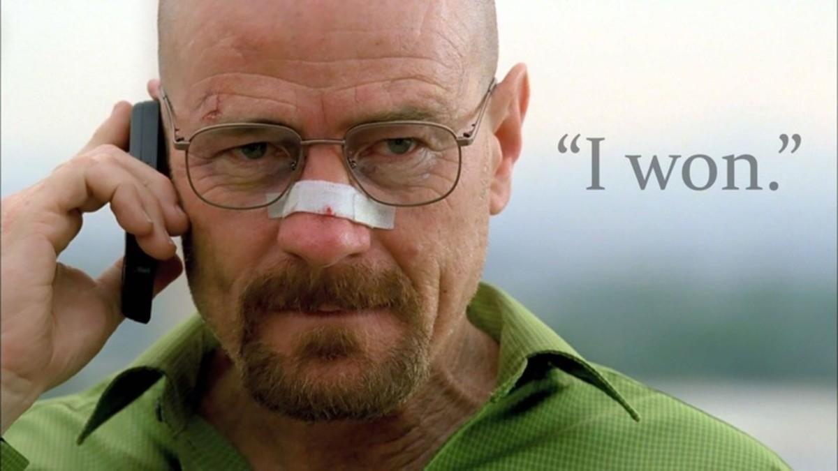 Walter White...aka Heisenberg, drug kingpin and meth cook.