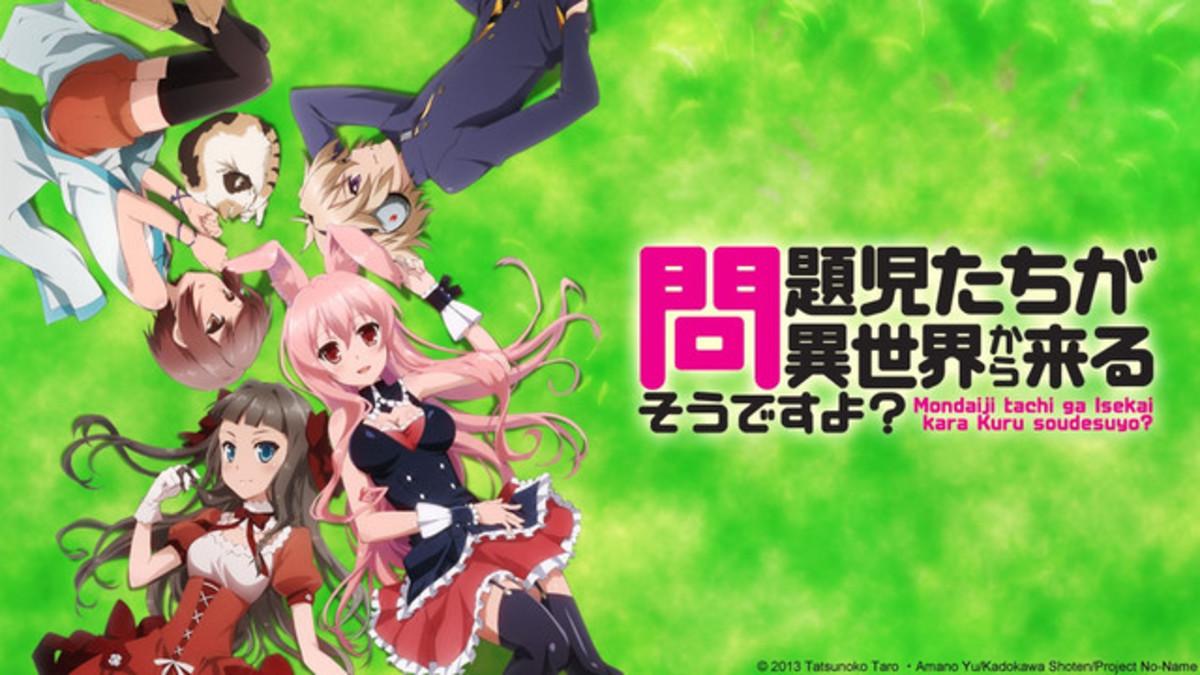 "The main characters in ""Mondaiji-tachi Ga Isekai Kara Kuru Sou Desu Yoo."""