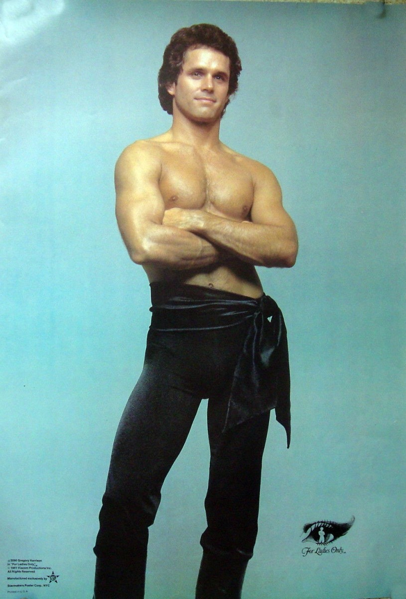 Gregory's poster pose for his role in the TV movie For Ladies Only