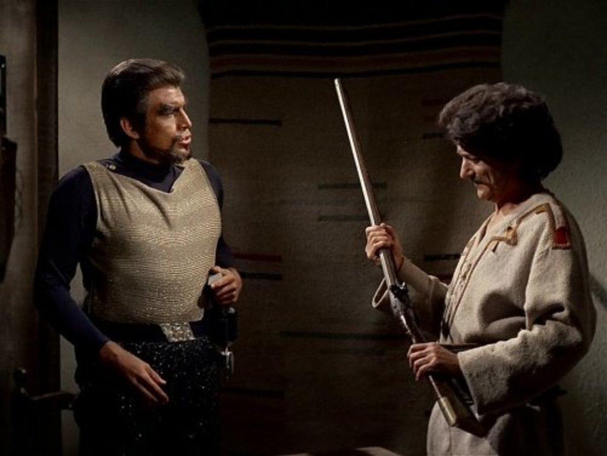 "Ned Romero (left) on ""Star Trek"""
