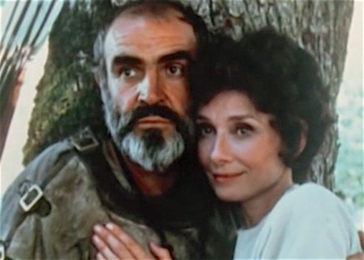 Sean Connery and Audrey Hepburn.