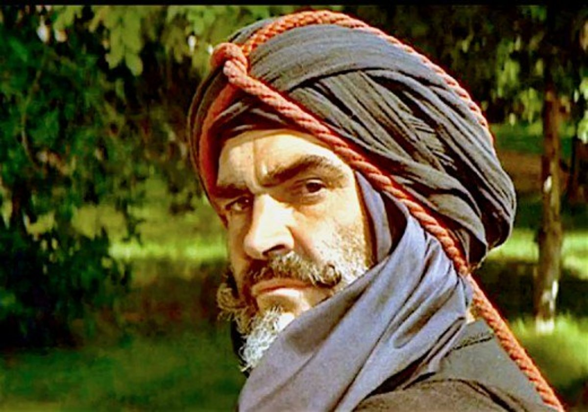 Sean Connery in The Wind and the Lion.