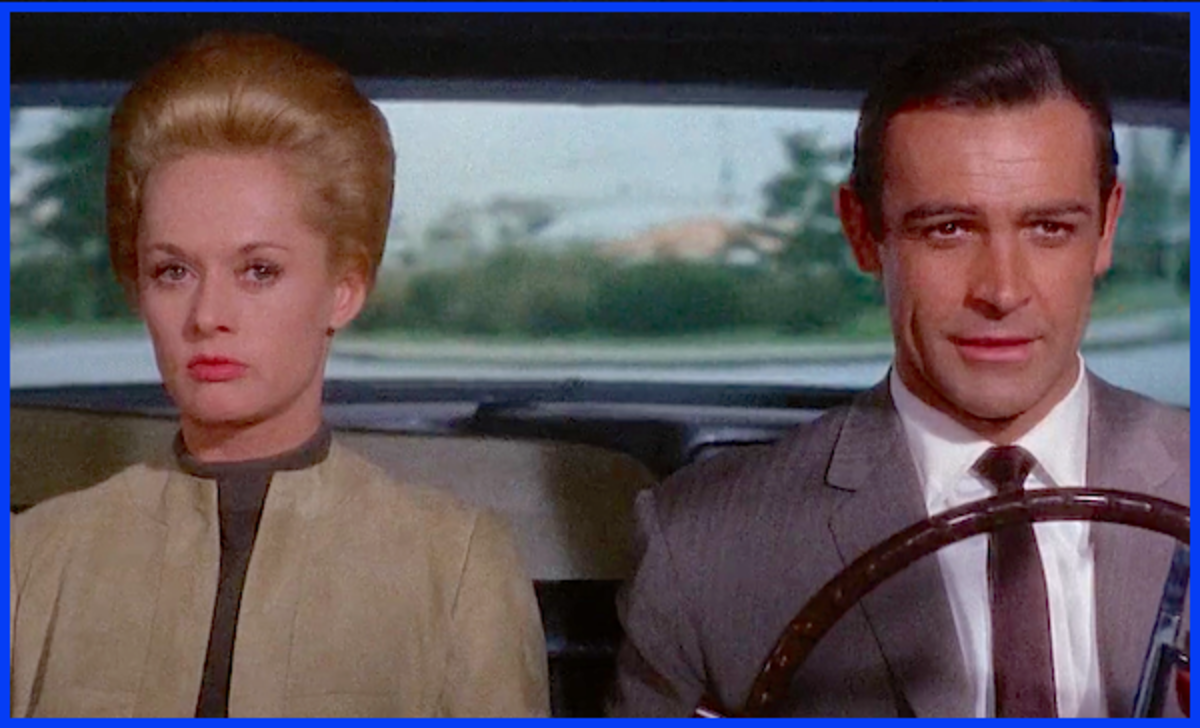 "Sean Connery and Tippi Hedren in Alfred Hitchcock's ""Marnie."""