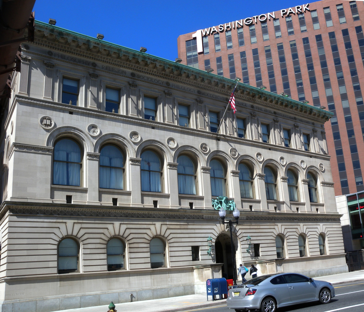 Main Branch of the Newark library, Designed by Rankin and Kellogg of Philadelphia. It is a registered state and national Historic Site.