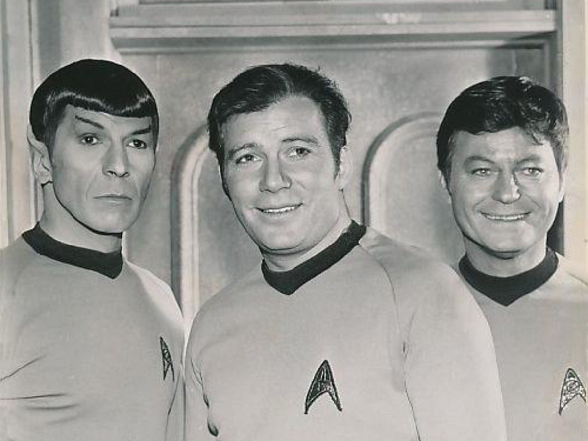 Spock, Capt. Kirk, and Dr. McCoy