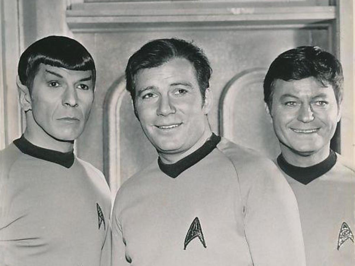 Spock, Capt. Kirk, and Dr. McCoy