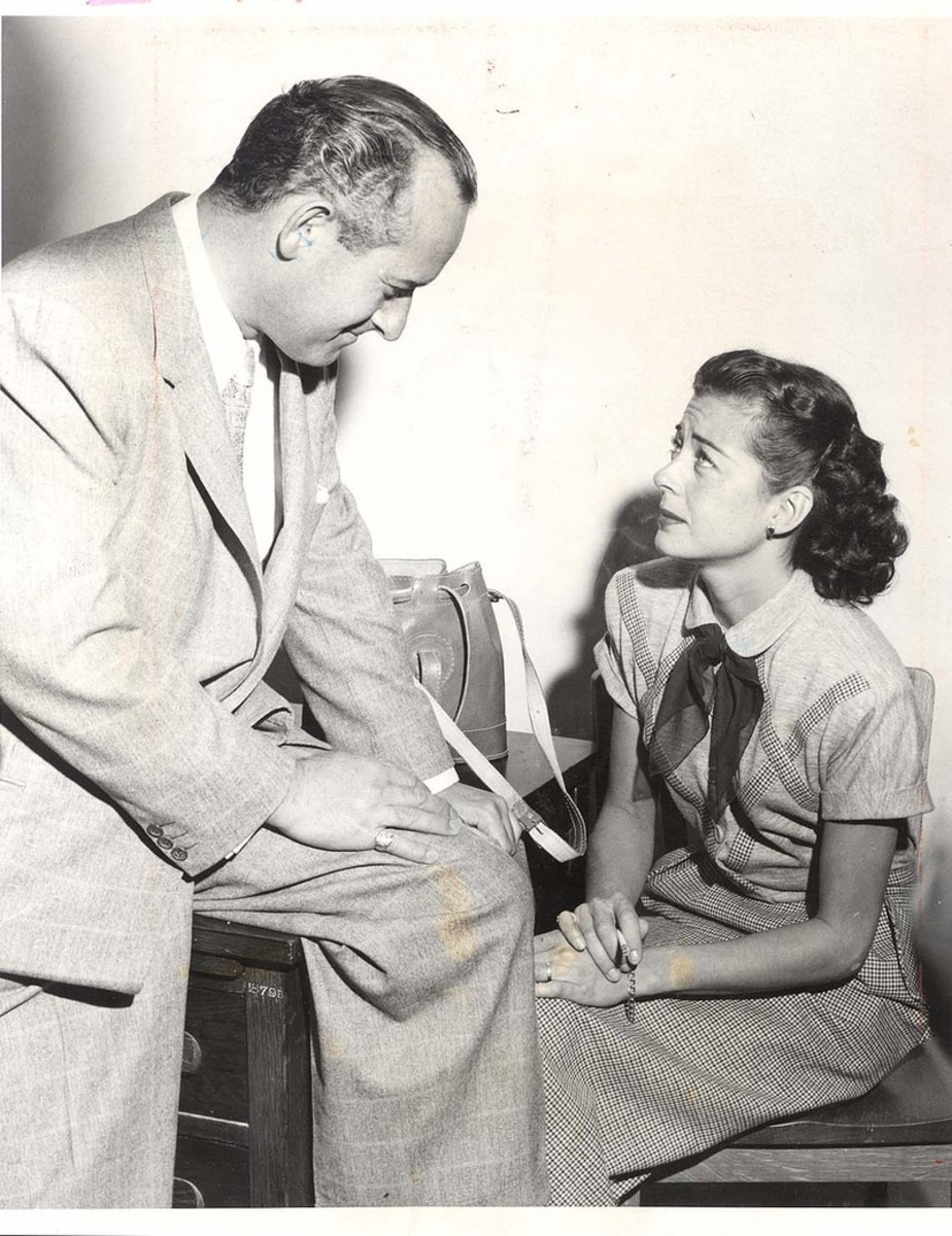 """Gail Russell pleads """"not guilty"""" to drunk driving in 1953."""